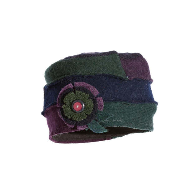 Upcycled Wool Vintage Inspired Women's Cloche Hat 1