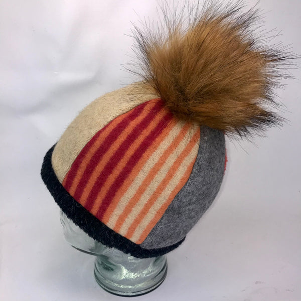 One of a Kind Pom Pom Hat 153