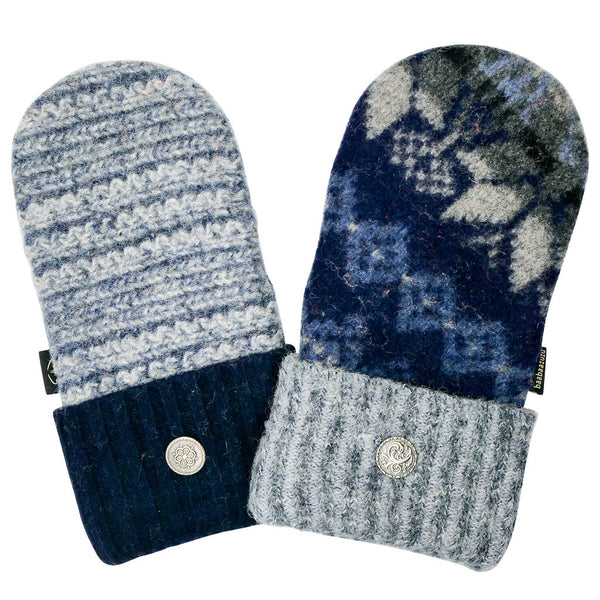 blue colored sweater mittens for men