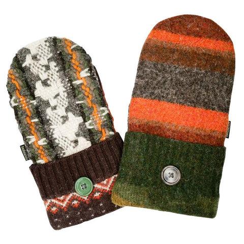 fall colored sweater mittens for men