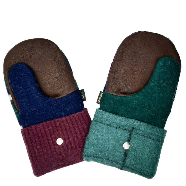 Upcycled Wool Men's Sweater Mittens 1