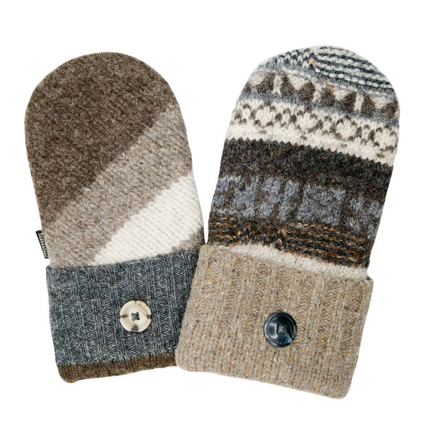 neutral colored sweater mittens for men