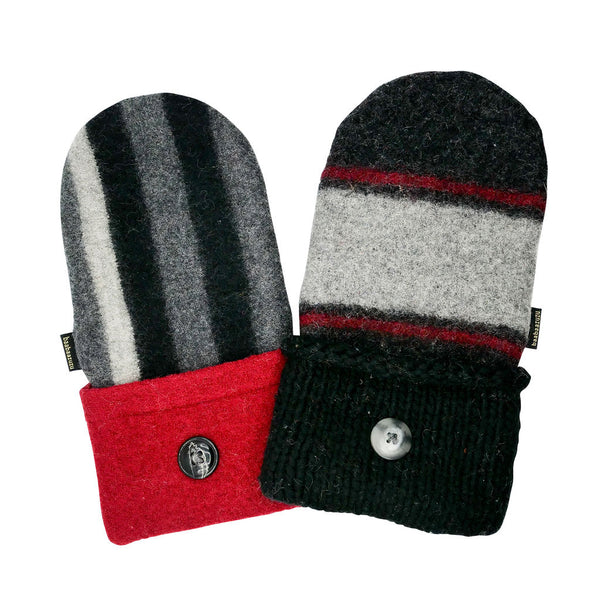 red black and gray sweater mittens for sale