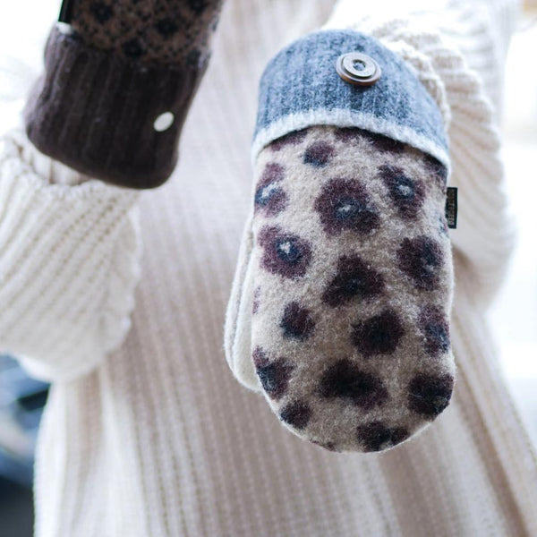 Sweater Mittens with Buckskin Palms