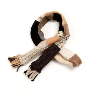 Upcycled Wool Men's Skinny Scarf for Winter