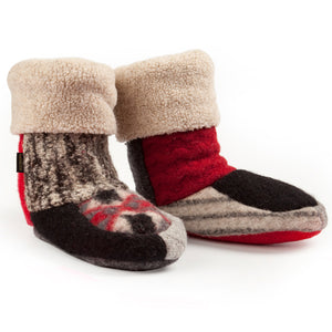 Upcycled Wool & Fleece-Lined Women's Slippers