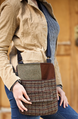 Upcycled Wool Women's Compact Zip Purse 1