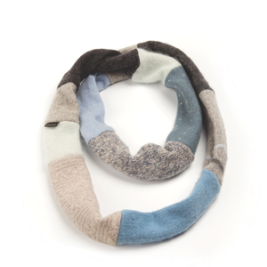 Upcycled Wool Women's Infinity Scarf for Winter