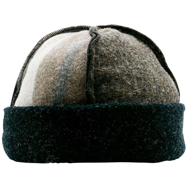 Upcycled Wool Men's Seamed Winter Hat 1