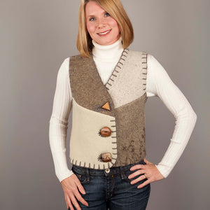 Upcycled Wool Women's Vest