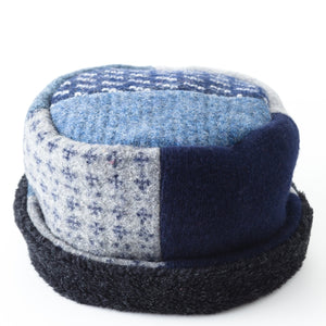 Upcycled Wool Women's Rolled Pillbox Hat