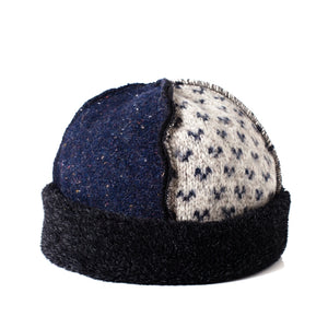 Upcycled Wool Women's Seamed Hat for Winter