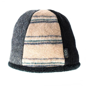 Upcycled Wool Men's Beanie Hat for Winter