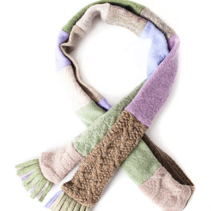 Upcycled Wool Women's Skinny Winter Scarf