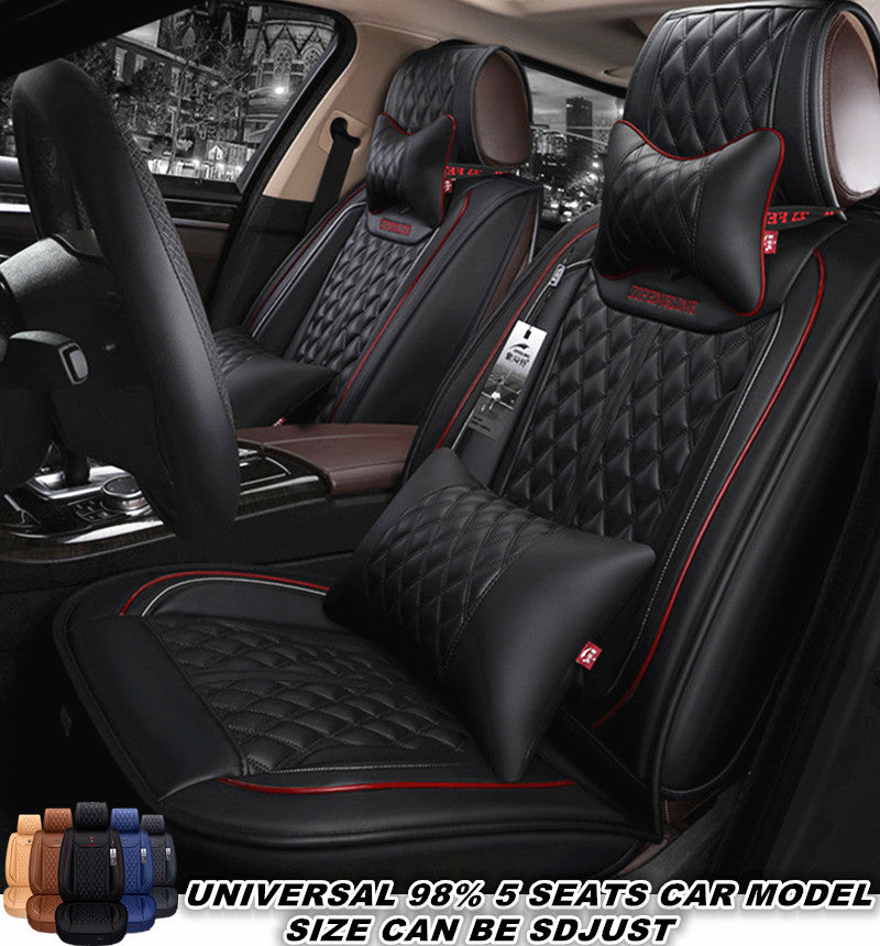 Full Set Jeep Patriot Luxury RED//BLACK Leather Look Car Seat Covers