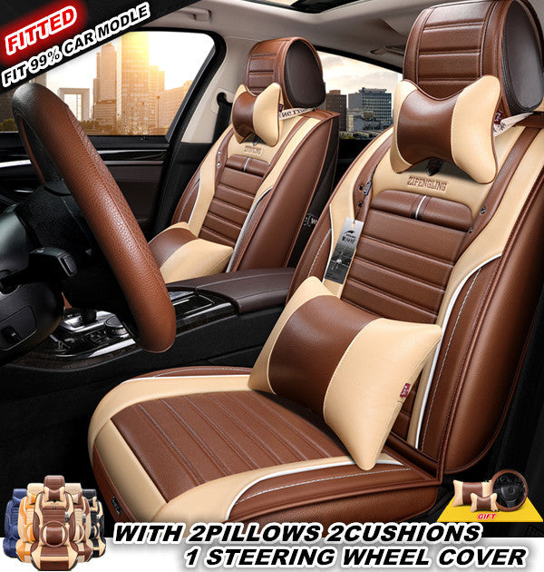 Leather Car Seats >> Automobile Seat Cover Leather Car Seat Cover Full Set Auto Seat