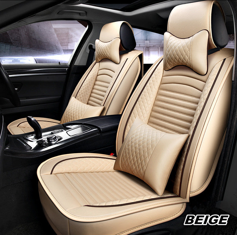 Sensational Classic Luxury Leather Car Seat Cover Set Black Car Seat Theyellowbook Wood Chair Design Ideas Theyellowbookinfo