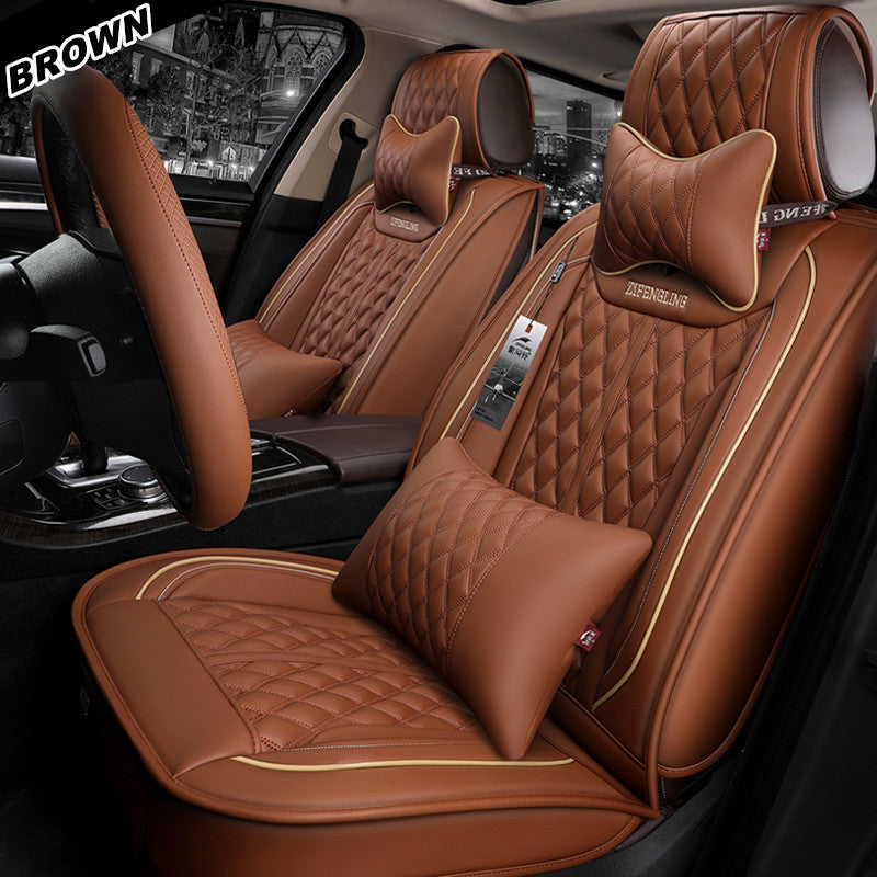 Luxury RED//BLACK Leather Look Car Seat Covers Honda CR-V Full Set
