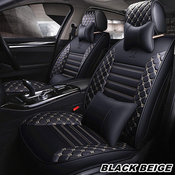 Phenomenal Auto Leather Car Seat Cover Luxury Full Set Car Seat Cushion Pabps2019 Chair Design Images Pabps2019Com