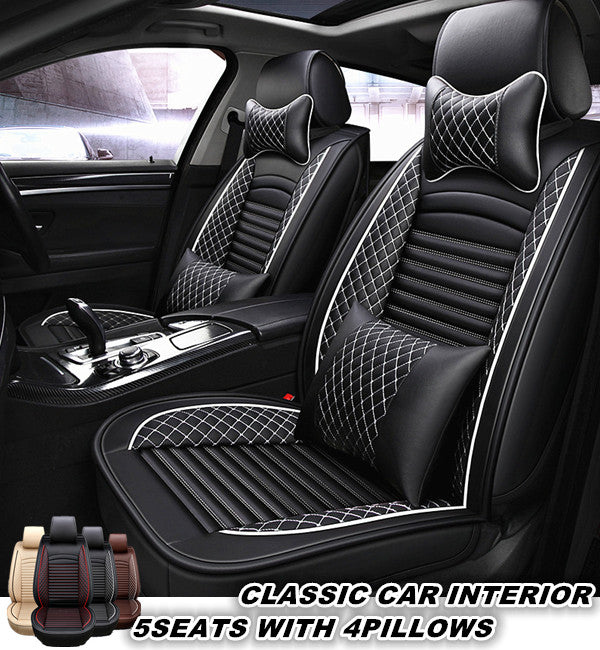 Full Set Leather Car Seat Covers Universal Seat Covers For Cars Fit Fo Grace Lead