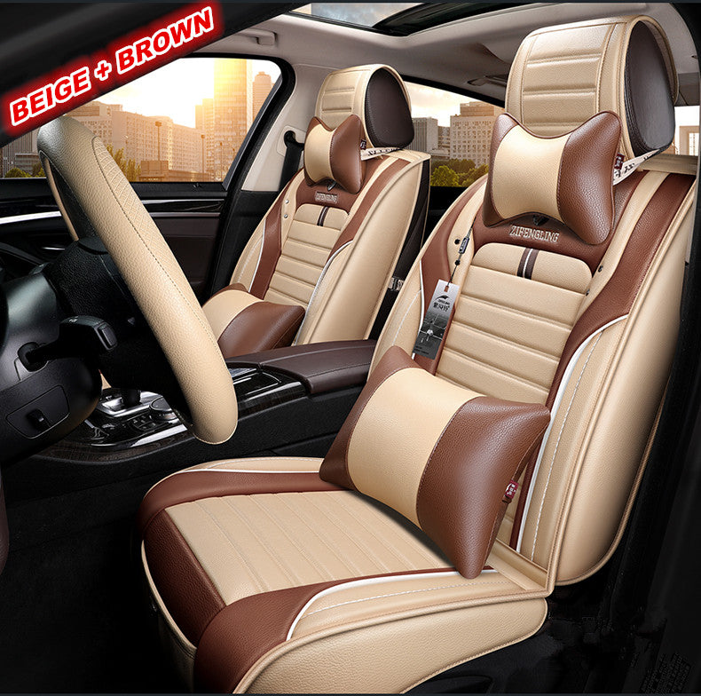 Peachy Automobile Seat Cover Leather Car Seat Cover Full Set Auto Theyellowbook Wood Chair Design Ideas Theyellowbookinfo