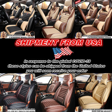 Luxury Full Set Leather Car Seat Cover Universal Seat Covers Cars For Grace Lead
