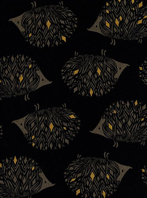 Sleep Tight Prickles Canvas Black