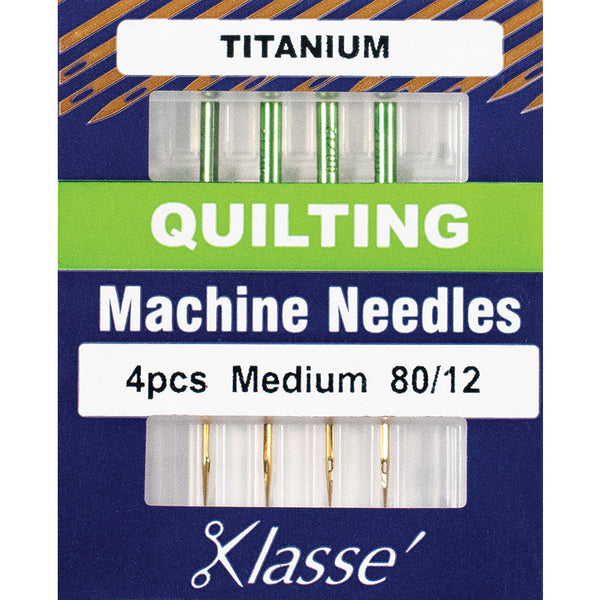 Klasse Titanium Machine Quilting Needles 80/12