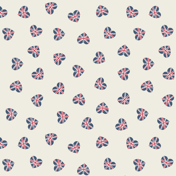 Union Jack Hearts Cream