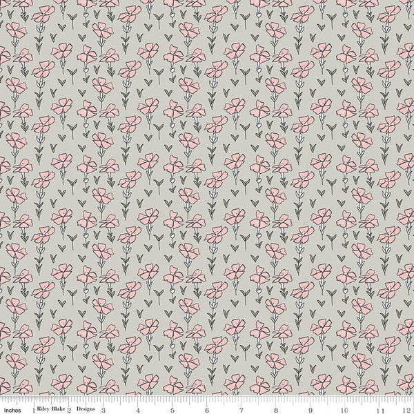 Sweet Stems Garden Gray - Riley Blake Designs C8273-Gray