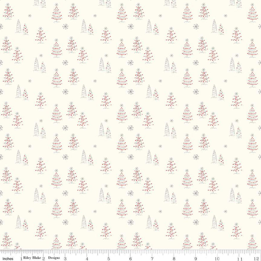 Merry Little Christmas Trees fabric C9641