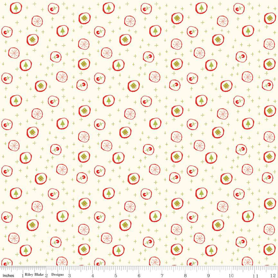 Merry Little Christmas Candy Black Fabric C9642