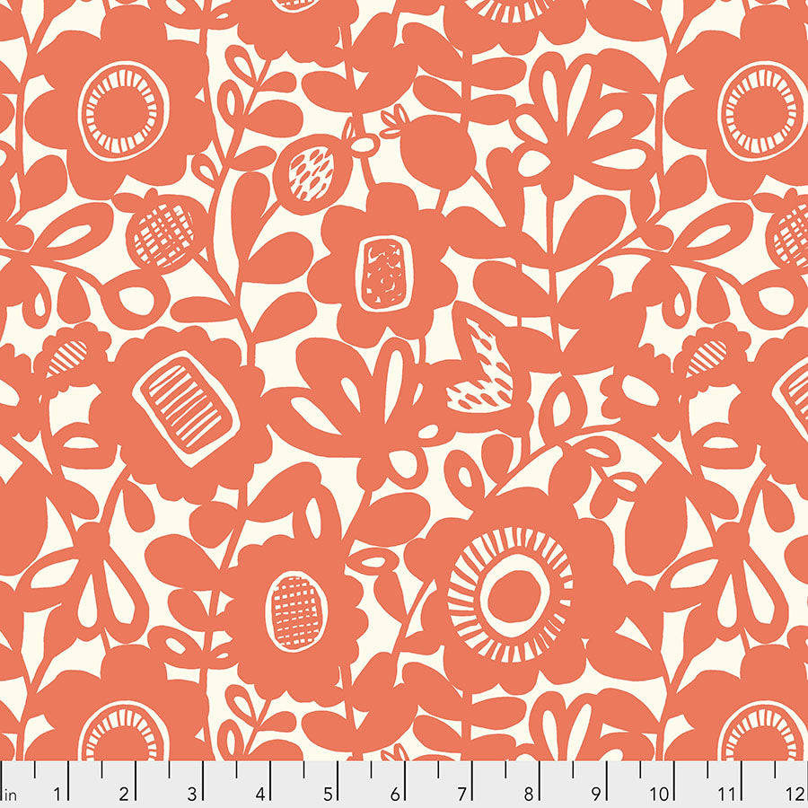 Scion Eloisa Kukkia Orange Fabric