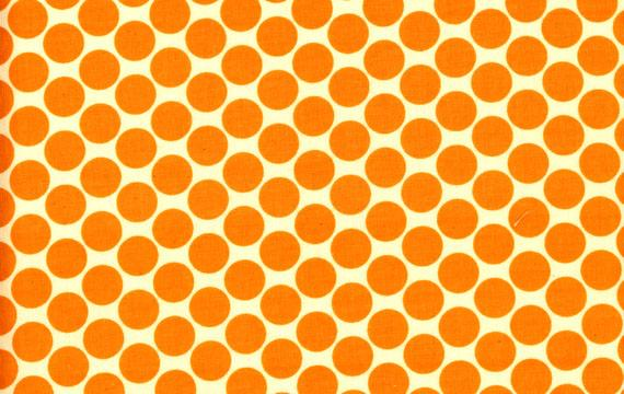 Lotus Full Moon Polka Dots Tangerine