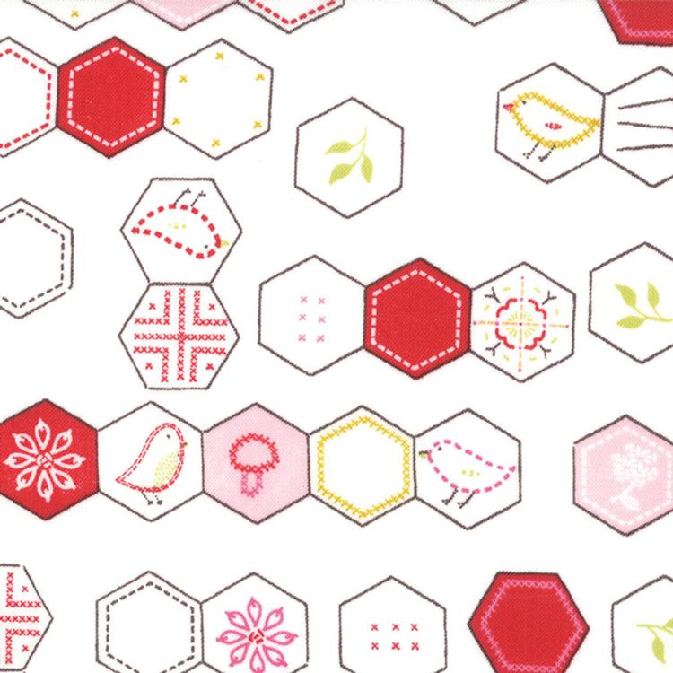 Sew Stitchy Hexagons Cotton