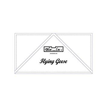 "Bloc Loc Flying Geese Ruler 2-1/2"" x 5"""