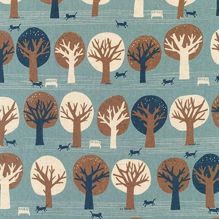 Cats and Trees Blue