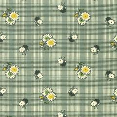 Floral Plaid Evergreen