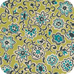 Ansonia Floral Paisley Mossy