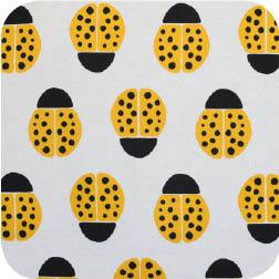 Ladybugs Yellow Canvas