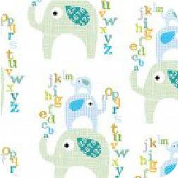 Elephant Alphabet Blue