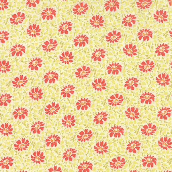 Flora Swirls Cream Poppy