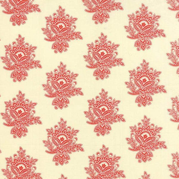 Mosaic Damask Cream Poppy