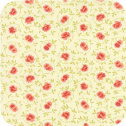 Somerset Small Flower Scroll Mums Cream