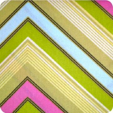 Zag Stripe Lime -FAT QUARTER