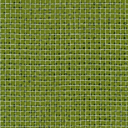 Mettallic Grid Single Border Ivy