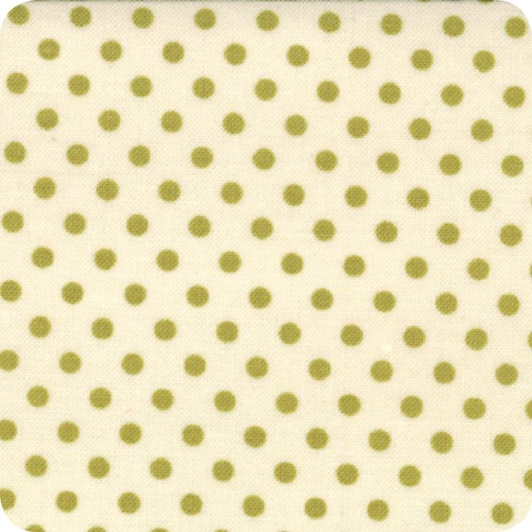 Odds And Ends Polka Dot Hankie Vintage Leaf