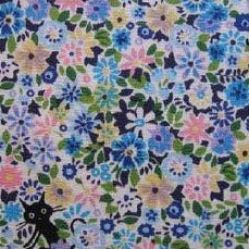 Import Floral Kitty Blue