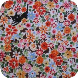 Import Floral Kitty Orange