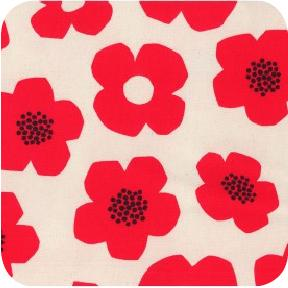 Trefle Canvas Flower Red